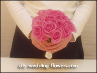 pink rose wedding posy
